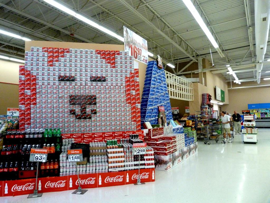 ... Walmart Coke And Bud Displays   By Rusty Clark ~ 100K Photos