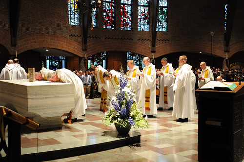 The Monastic Community processes into the Abbey Church for Baccalaureate Mass | by Saint Anselm College