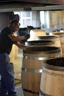 making cognac barrels | by David Lebovitz