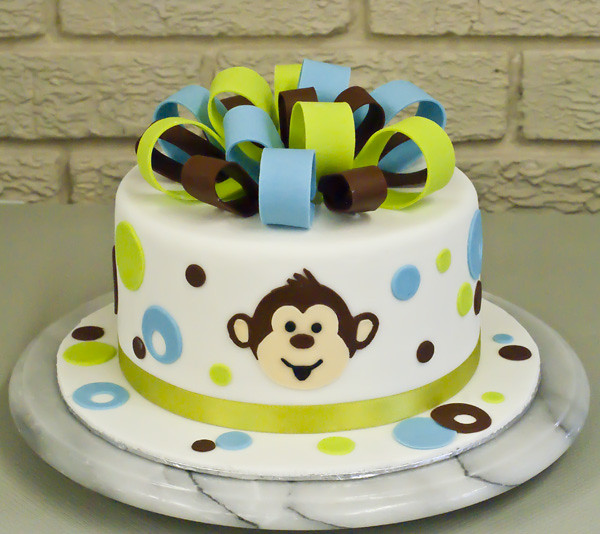 Monkey Face Baby Shower Cake Angie Boyd Flickr