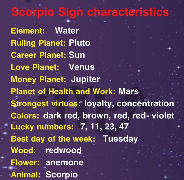 Scorpios element