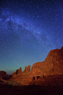 "Milky Way stars over Park Avenue - Arches NP | by IronRodArt - Royce Bair (""Star Shooter"")"