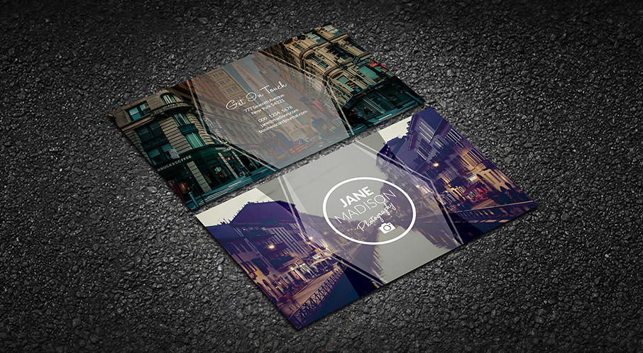 Modern simplicity photographer business card template flickr modern simplicity photographer business card template by meng loong friedricerecipe Images