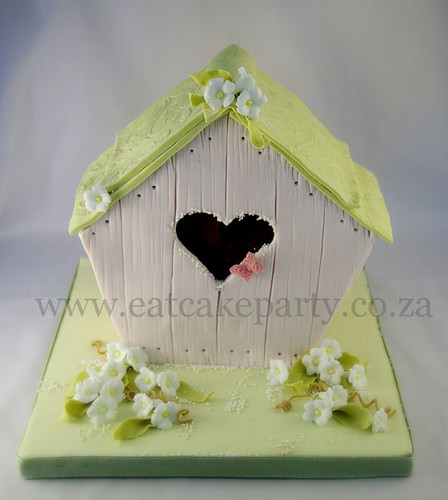 Birdhouse Christening cake | by ♥Dot Klerck....♥