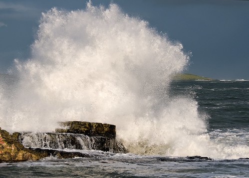 Waves crash onto Ramore Portrush | by Deirdre Gregg