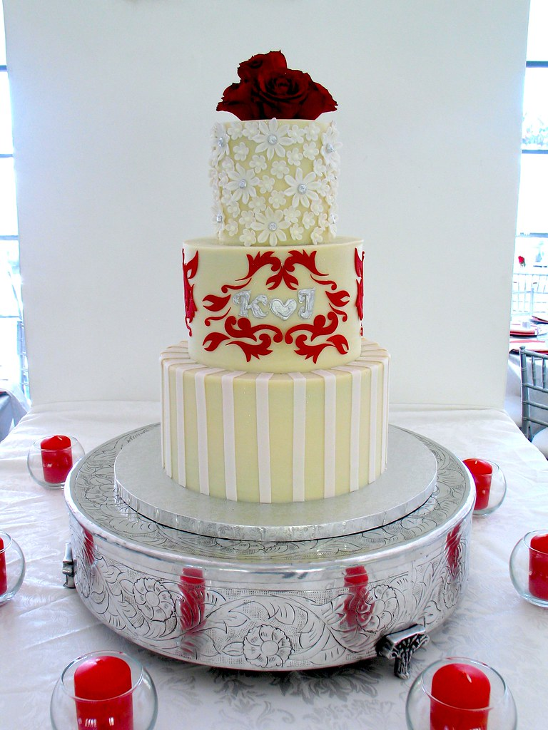 3-tier Wicked Chocolate wedding cake iced in white chocola… | Flickr