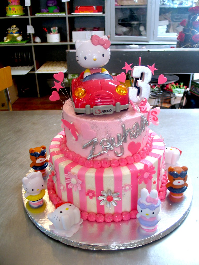 2tier Wicked Chocolate Hello Kitty themed cake decorated Flickr