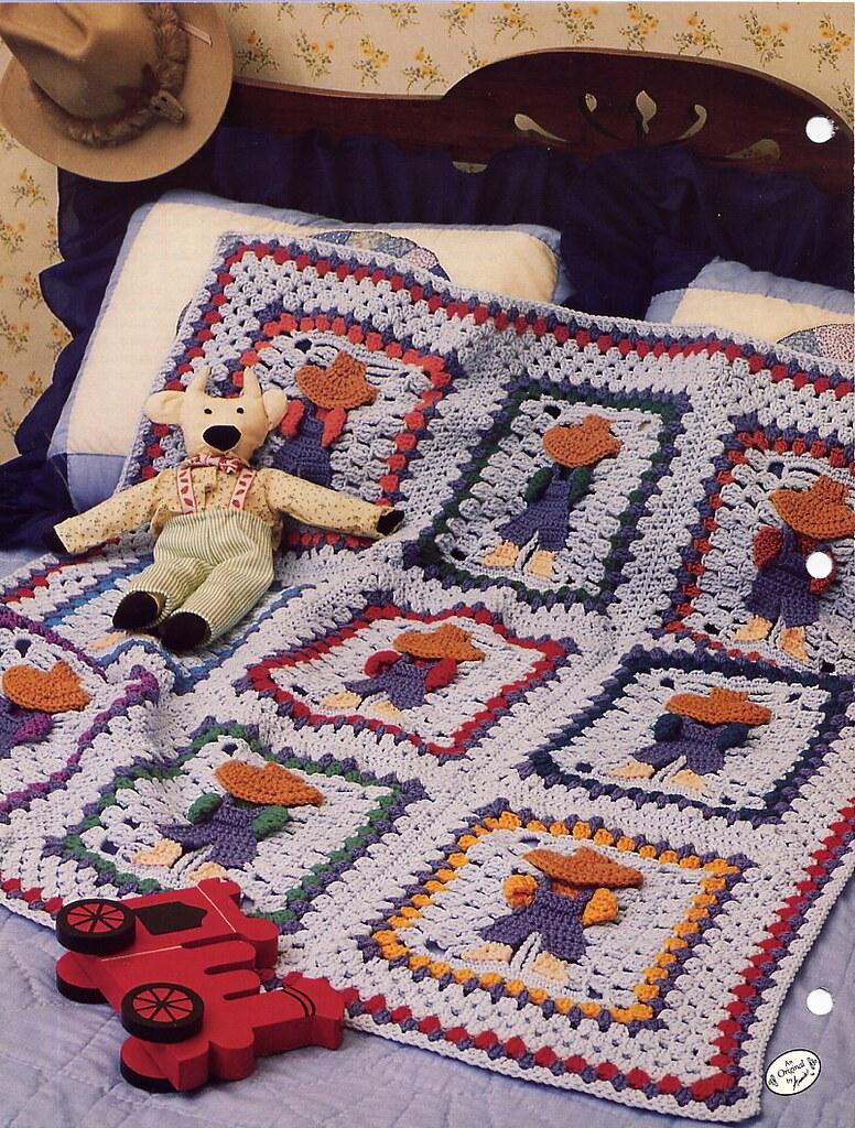 Overall Sam Crochet Afghan Pattern Annies Attic Back Flickr