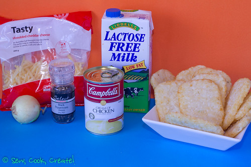 Hashbrown Bake ingredients | by Sew, Cook, Create!