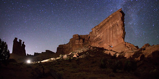 "Lighting set-up for Hole in the Wall Arch | by IronRodArt - Royce Bair (""Star Shooter"")"