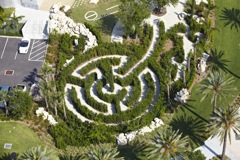 Aerial View of Labyrinth in East Garden | Dali Museum | Flickr on