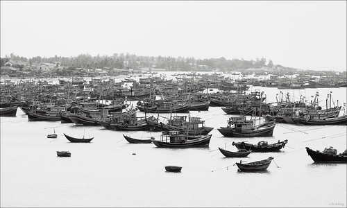 A harbor in Phan Thiet, Vietnam | by -clicking-