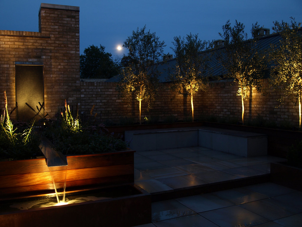 terrace lighting. Garden Lighting Roof Terrace Cambridge | By Paul Dracott Design Terrace Lighting H
