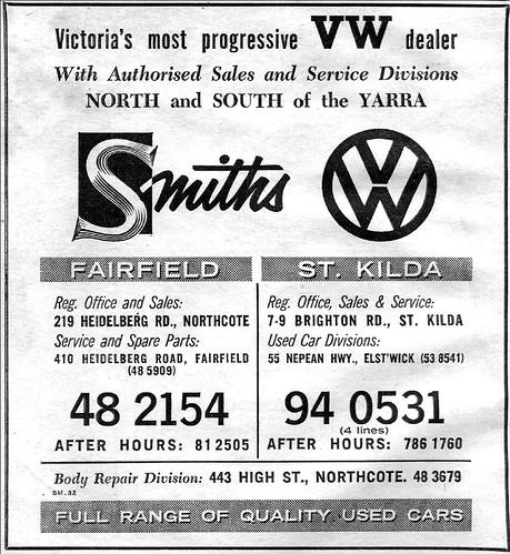 1963 Volkswagen Ad Smiths 1963 Australian Magazine Ad