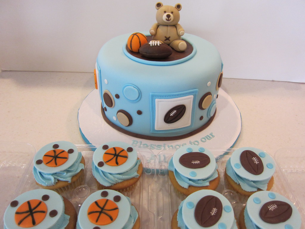 Teddy Bear Baby Shower Cake This Cake Is So Cute And I Ma Flickr
