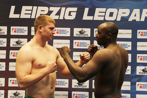 15/12/2011 Weigh-in Leipzig Leopards vs Paris United | by World Series Boxing