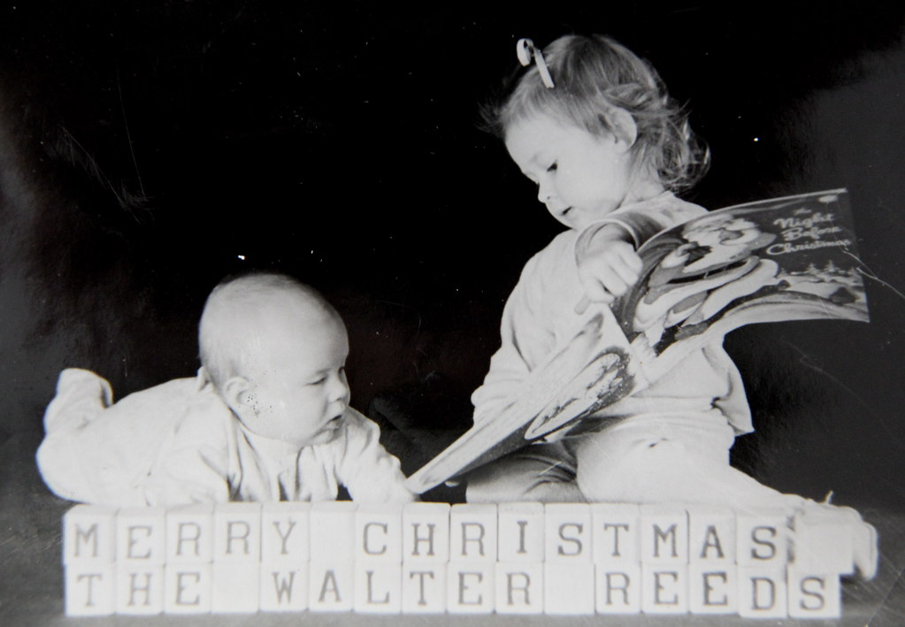 Reed Christmas card pose, 1949 | Photo by Walter Reed. This … | Flickr