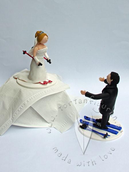Ski Brautpaar Tortenfiguren Flickr