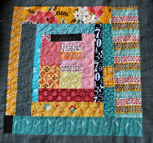 king size quilt, block 2 quilted | by vickivictoria