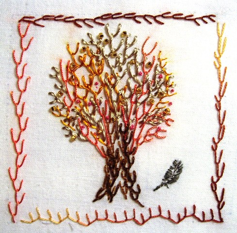 Feather Stitch I Added A Mini Feather Anneliese Flickr