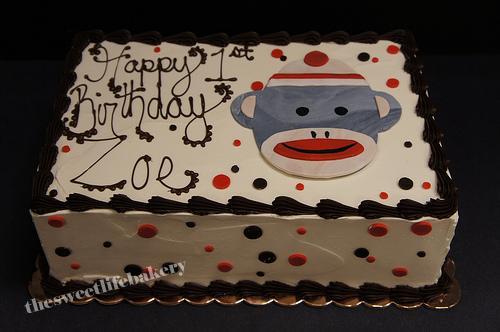 Sock Monkey Birthday Cake Zoes 1st Sock Monkey Flickr