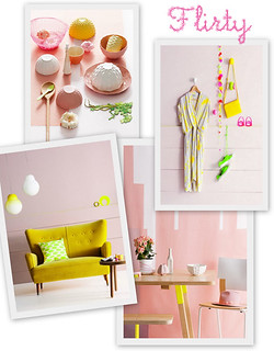 Pastels, Natural Wood, Neon and Hints of Copper | by decor8