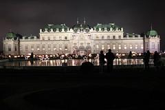 El Palacio Belvedere de Viena y su mercado de Navidad