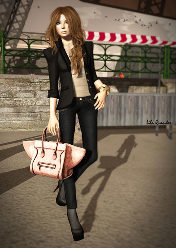 C88 - fri. - Charm.Blouse (Nostalgia) & Classic.Jeans (Evening) by Darling Monday | by Lila Quander