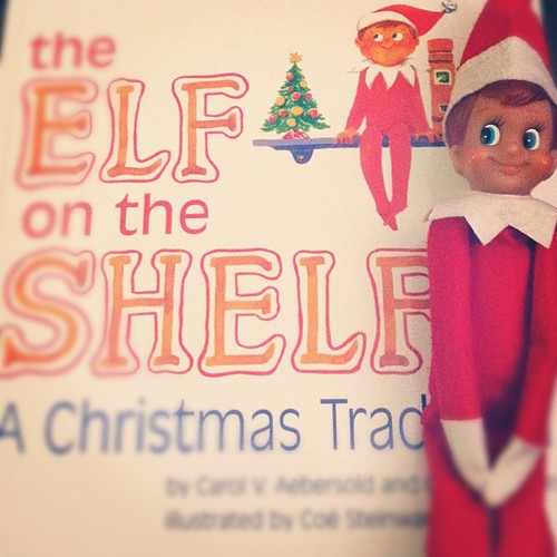 Starting a new tradition tonight. Meet Buddy the Elf. #elfontheshelf | by Talysa