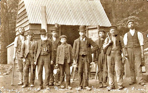 Forest of Dean c 1900 - Gold Miners at the Mine | by ronramstew