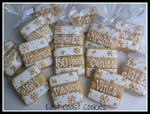 50th Anniversary cookies | by Coastal Cookie Shoppe (was east coast cookies)