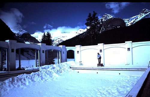 1982 Chateau Lake Louise Alberta Canada Frozen Swimming Flickr