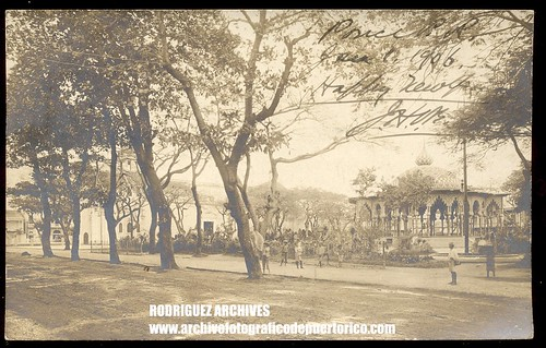 PONCE, P. R.- View of the Kiosko Arabe at the Plaza - Real Photo Post Card Mailed from Ponce Jan. 2, 1906 | by ARCHIVO HISTORICO Y FOTOGRAFICO DE PUERTO RICO