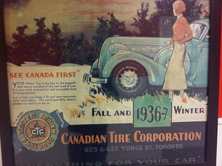 Canadian Tire Motor Car Poster circa 1936 | by James D. Schwartz