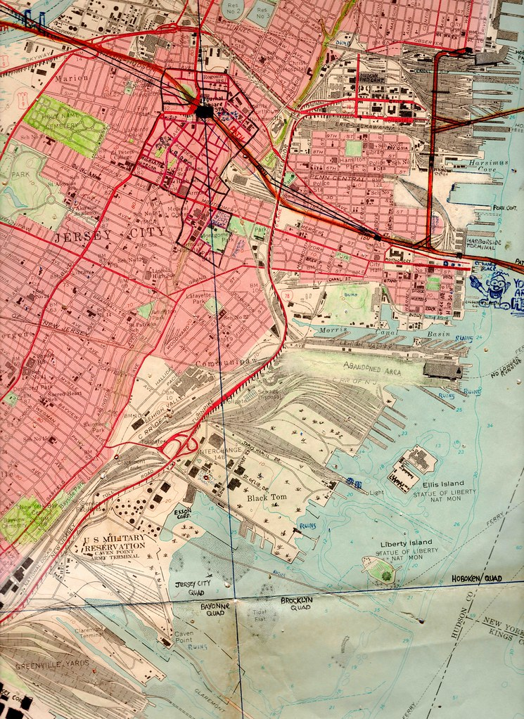 1970 map of jersey city new jersey showing the abandoned flickr 1970 map of jersey city new jersey showing the abandoned industrial and railroad lands way gumiabroncs Gallery