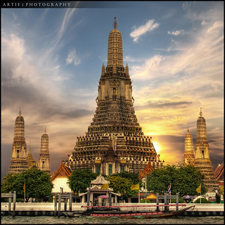 Wat Arun, Temple of the Dawn, Bangkok, Thailand :: HDR | by :: Artie | Photography :: Travel ~ Oct