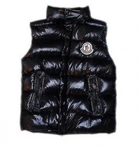 8868f2e4b9f0 Moncler-femmes piqué-noir-à-Vest   Doudoune Moncler Pas cher…   Flickr