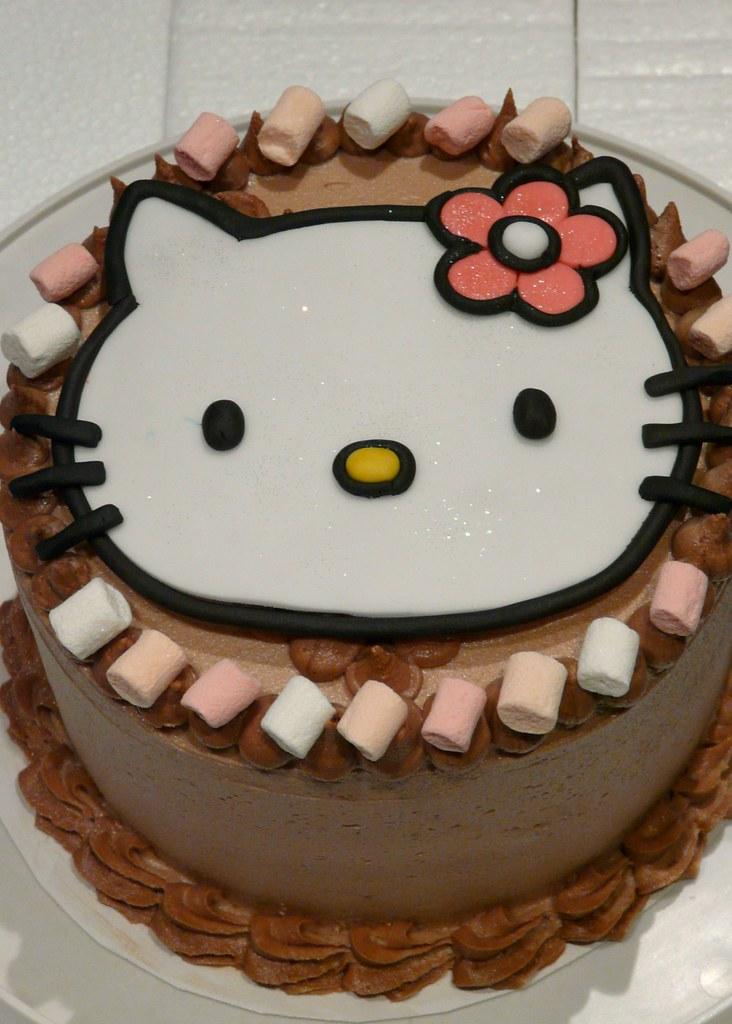 Meow birthday cake chocolate hazelnut cake with fondant ki flickr meow birthday cake by sugar daze publicscrutiny Choice Image