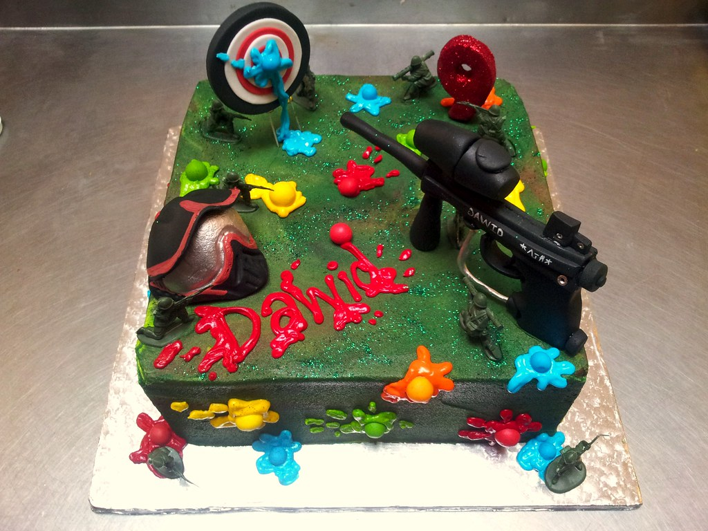 Square Wicked Chocolate Ultimate Paintball Themed Cake Ice Flickr