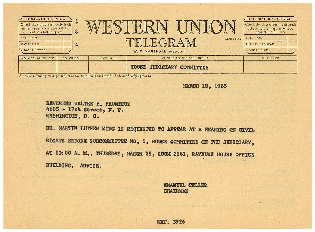 Telegram to martin luther king jr on voting rights act o flickr 03 telegram to martin luther king jr on voting rights act of 1965 03 stopboris Image collections