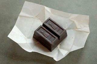 Square of semi-sweet baker's chocolate by Eve Fox, Garden of Eating blog, copyright 2012 | by Eve Fox
