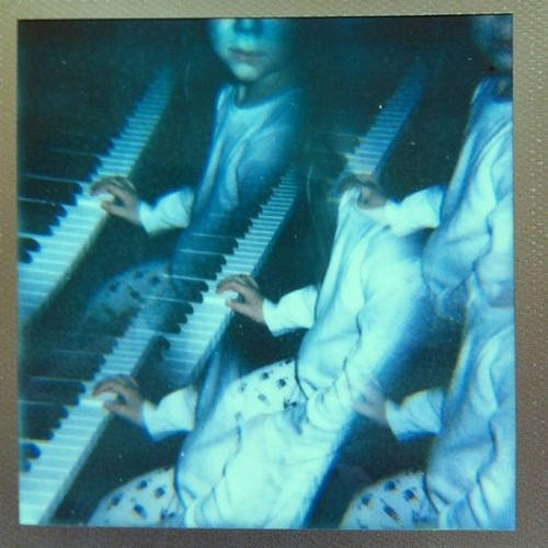 Piano Practice X5. Polaroid Impulse w 5 image filter & Impossible PX680 CS Gld Frme | by koduckgirl
