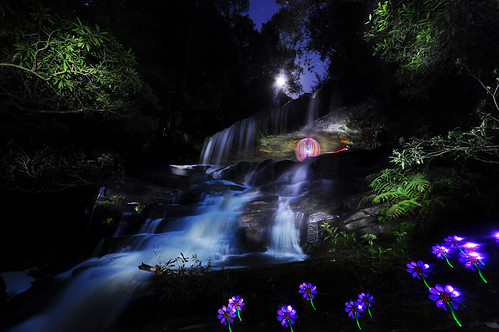 Somersby Bottom Falls Lightpainted | by mickyg9
