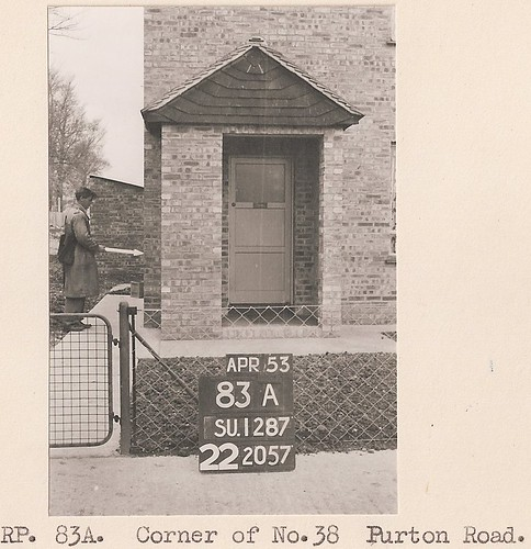 "1953: No.38 Purton Road, Swindon (OS ""A Man with a Stick"" series) 