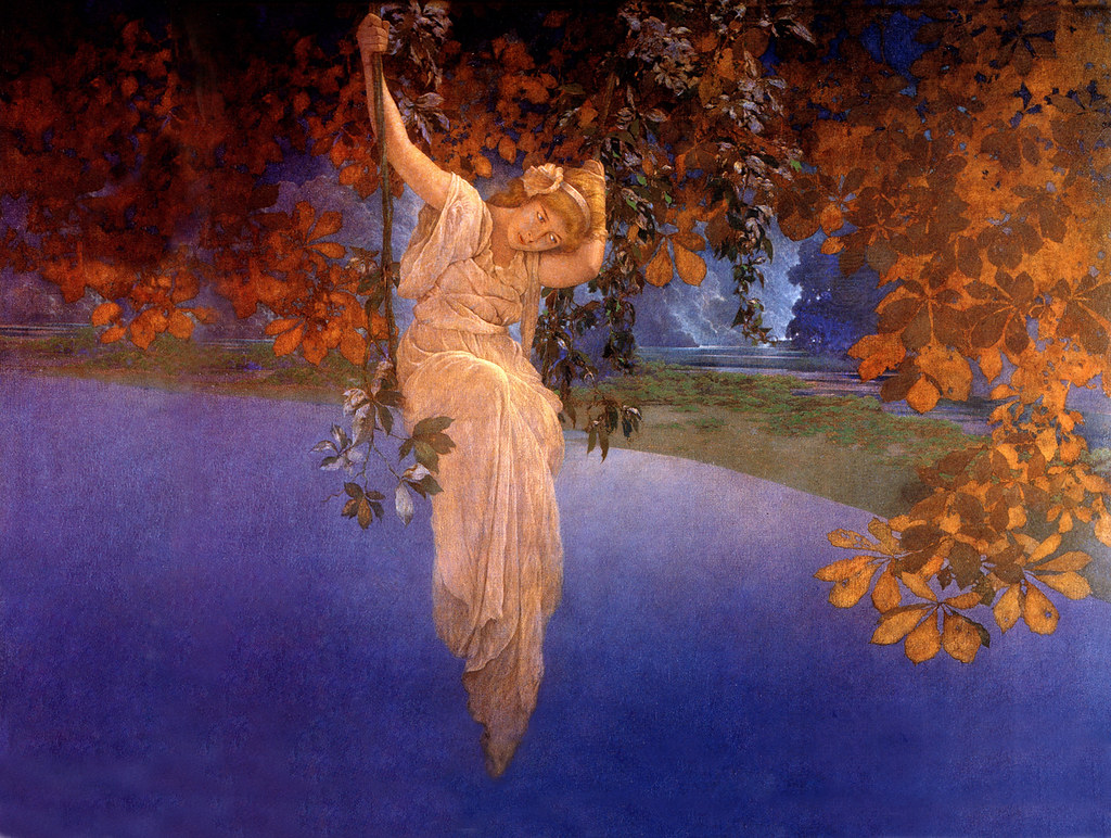 Maxfield Parrish Reveries 1913 Expanded For Computer Wallpaper