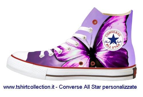 all star converse con farfalle