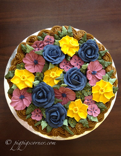 Wilton Method of Cake Decorating Course 2 basketweave flow ...