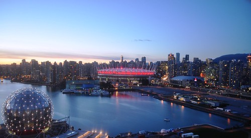 BC Place in the Vancouver Skyline at Sunset | by BC Place