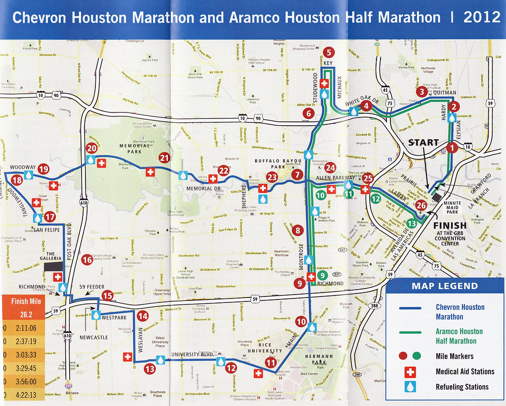 Houston marathon elevation map