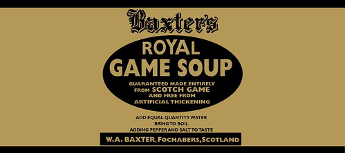 original royal game soup label | by Baxters - Moray Connections